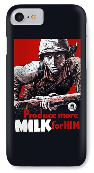 Produce More Milk For Him - Ww2 IPhone Case