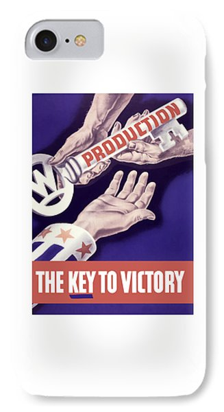 Production - The Key To Victory Phone Case by War Is Hell Store