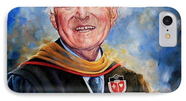 Professor Portrait Commission IPhone Case by Hanne Lore Koehler