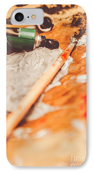 Progress Of Oil Painting IPhone Case by Jorgo Photography - Wall Art Gallery