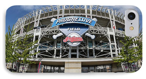 IPhone Case featuring the photograph Progressive Field by Dale Kincaid