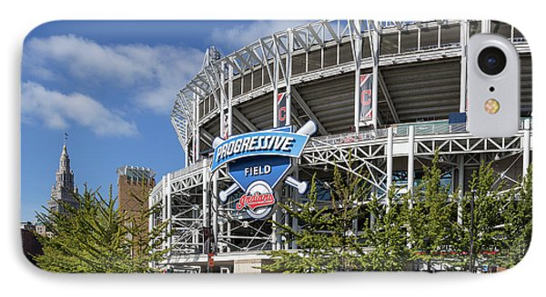 IPhone Case featuring the photograph Progressive Field In Cleveland Ohio by Dale Kincaid