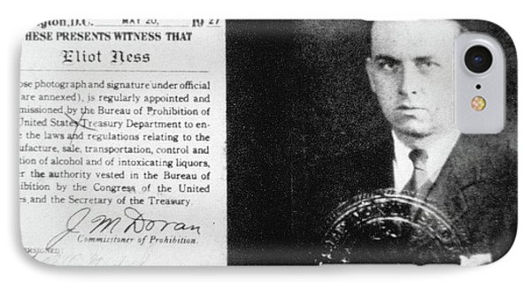 Prohibition Agent Id Card Of Eliot Ness IPhone Case