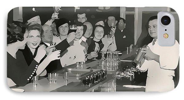 Prohibition Era Bar And Bartender IPhone Case