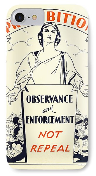 Prohibition Temperance Poster C. 1925 IPhone Case by Daniel Hagerman