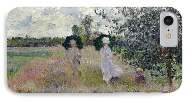 Promenade Near Argenteuil IPhone Case by Claude Monet