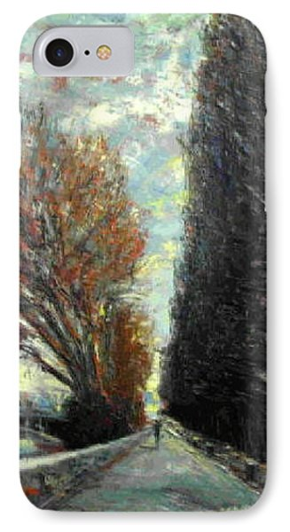 IPhone Case featuring the painting Promenade by Walter Casaravilla