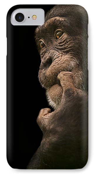 Chimpanzee iPhone 7 Case - Promiscuous Girl by Paul Neville