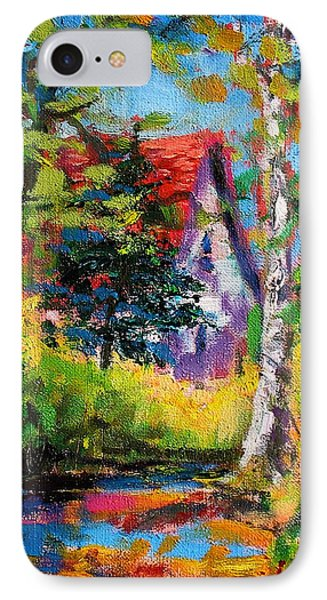 IPhone Case featuring the painting Prospect Driveway by Les Leffingwell