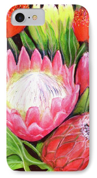 Protea Flowers #240 Phone Case by Donald k Hall