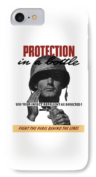 Protection In A Bottle Fight The Peril Behind The Lines Phone Case by War Is Hell Store