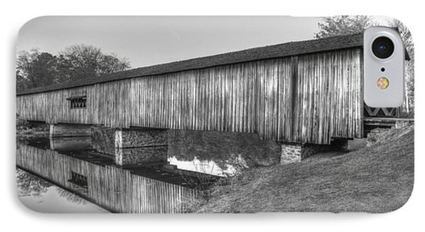 Protection That Works Historic Watson Mill Covered Bridge IPhone Case by Reid Callaway
