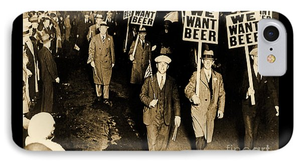 Protest Against Prohibition, New Jersey, 1931 IPhone Case by American School