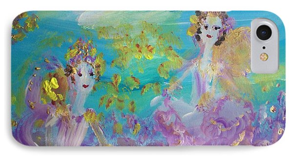 Proud Fairies Keep On Rolling IPhone Case by Judith Desrosiers