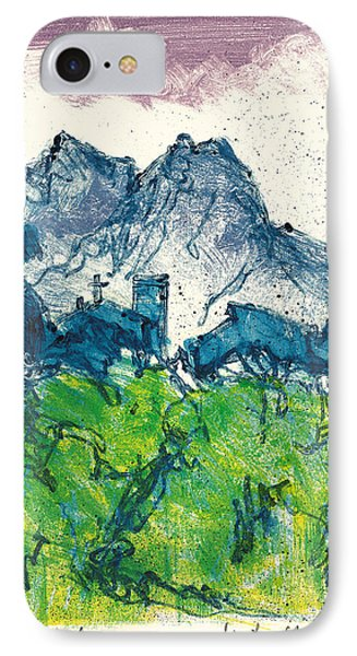 IPhone Case featuring the painting Provence Landscape Alpilles by Martin Stankewitz