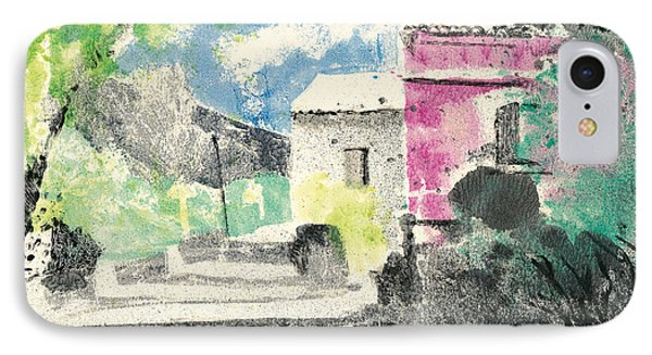 Provence Landscape Village Cucuron IPhone Case by Martin Stankewitz