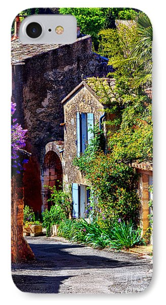 Provence Village Street In Spring IPhone Case by Olivier Le Queinec