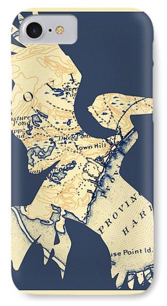 Provincetown Pelican V1 IPhone Case by Brandi Fitzgerald