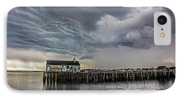 IPhone Case featuring the photograph Provincetown Storm, Cabrals Wharf by Charles Harden