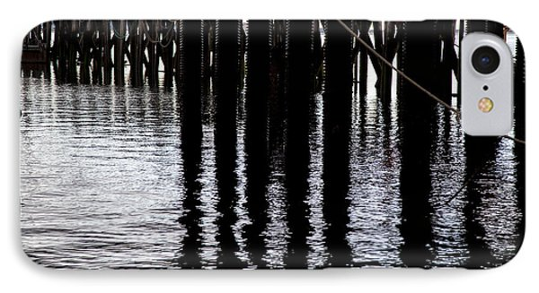 IPhone Case featuring the photograph Provincetown Wharf Reflections by Charles Harden