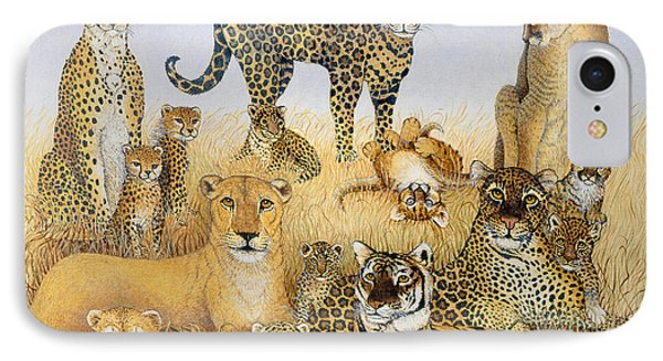 The Big Cats IPhone Case by Pat Scott