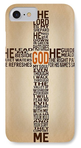 Psalm 23 IPhone Case by Art Spectrum