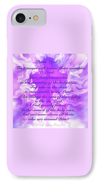 Psalm Eighty Nine Selected Verses IPhone Case by Yvonne Blasy