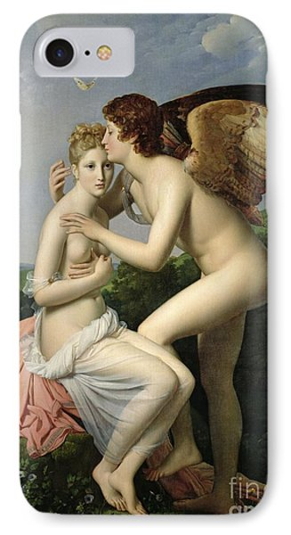 Psyche Receiving The First Kiss Of Cupid IPhone Case by Gerard