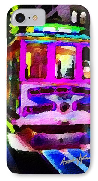 Psychedelic Cable Car Phone Case by Anthony Caruso