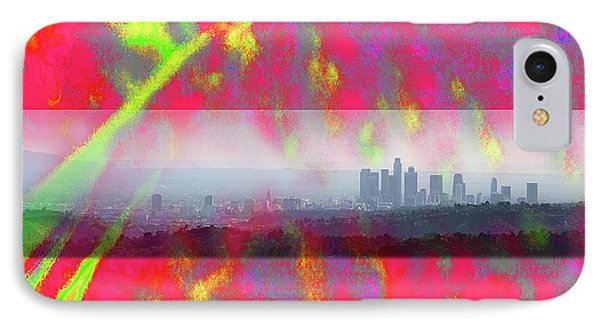 psychedelic energy of Los Angeles Phone Case by Viktor Savchenko