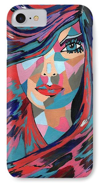 IPhone Case featuring the painting Psychedelic Jane by Kathleen Sartoris