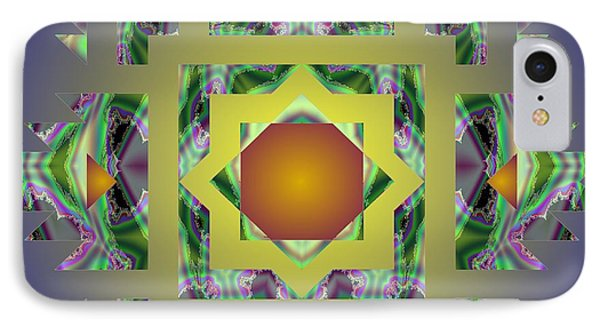 Psychedelic Mandala 002 A IPhone Case by Larry Capra