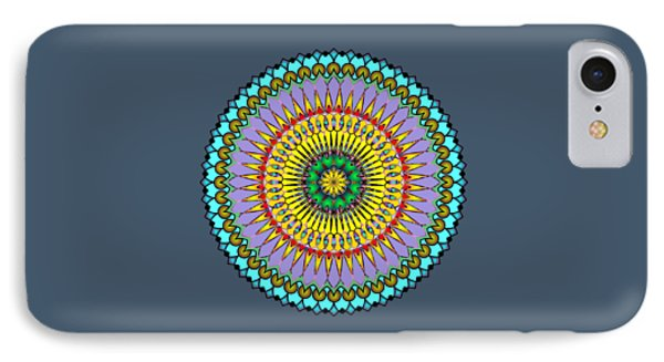 Psychedelic Mandala 005 A IPhone Case by Larry Capra