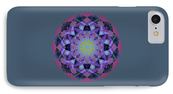 Psychedelic Mandala 006 A IPhone Case by Larry Capra