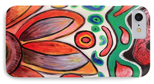 IPhone Case featuring the painting Psychedelic Summer by Jolanta Anna Karolska