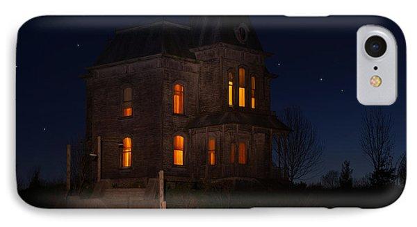 Psycho House-bates Motel IPhone Case by Jim  Hatch