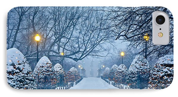 Public Garden Walk IPhone Case by Susan Cole Kelly