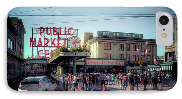 IPhone Case featuring the photograph Public Market Crowd by Spencer McDonald