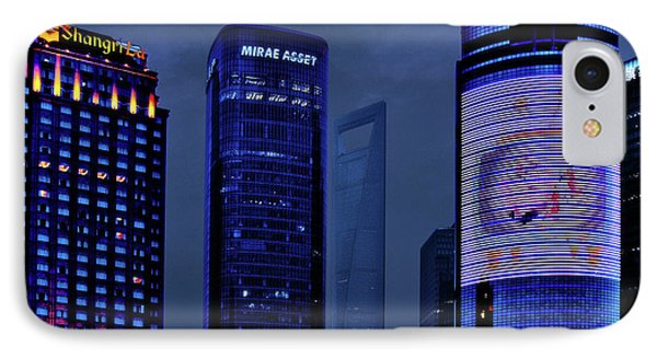 Pudong - Epitome Of Shanghai's Modernization Phone Case by Christine Till