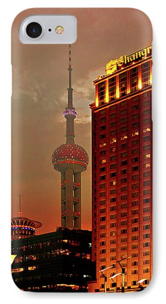 Pudong Shanghai - First City Of The 21st Century Phone Case by Christine Till
