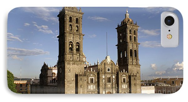 Puebla Cathedral Horizontal Mexico IPhone Case by John  Mitchell