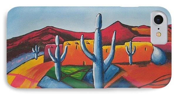 IPhone Case featuring the painting Pueblo by Antonio Romero