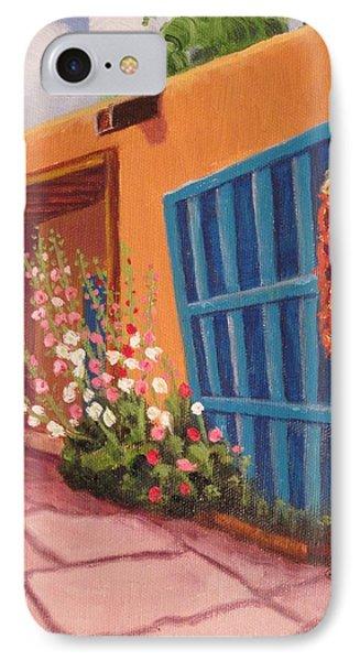 Puerta Azul En Taos IPhone Case