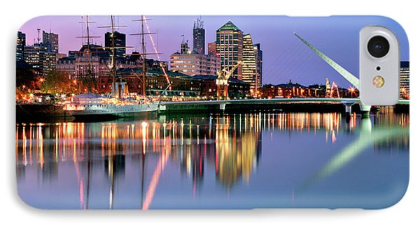 Puerto Madero I IPhone Case by Bernardo Galmarini