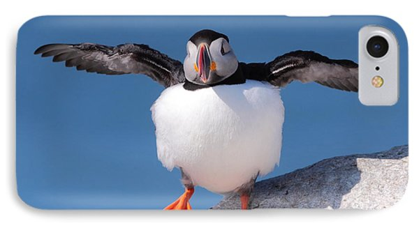 Puffin Dance Phone Case by Bruce J Robinson