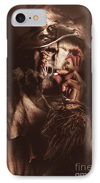 Puffing Billy The Smoking Scarecrow IPhone Case by Jorgo Photography - Wall Art Gallery