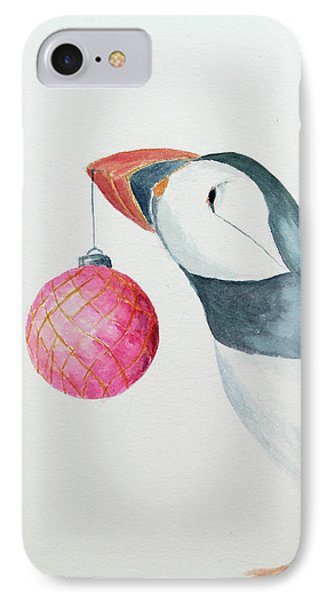 Puffin's First Christmas Phone Case by Doug Moore