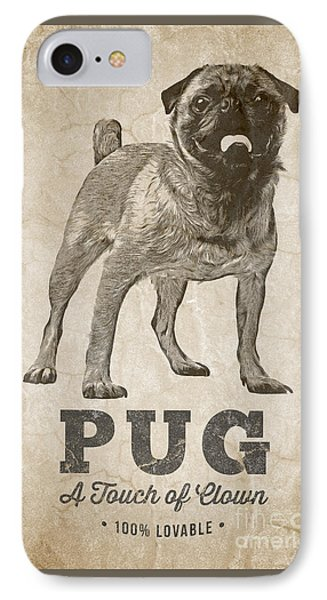 Pug A Touch Of Clown IPhone Case by Edward Fielding