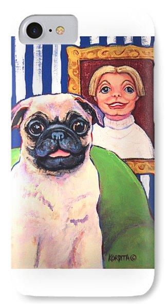 Pug - Beth Ann And Butch IPhone Case by Rebecca Korpita