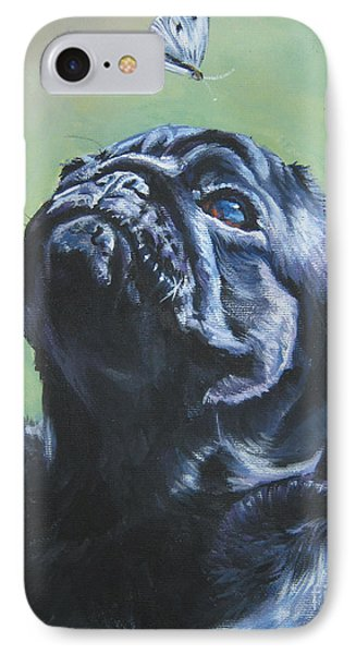 Pug Black  IPhone Case